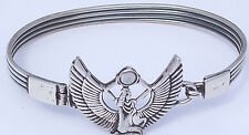 Isis (kneeling with outstretched wings) .925 Silver Bangle (Hallmarked)