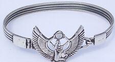 Goddess Isis, Egyptian Mother Goddess of Magic and Protection Silver Bangle