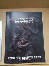 ENDLESS NIGHMARE EXPANSION RULEBOOK    /CTHULHU / DEEP MADNESS