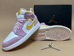 Nike Jordan 1 Mid SE (PS) Arctic Pink / University Gold (DC9519-600) Sz 1Y /2.5W
