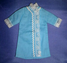 Vintage doll CLOTHES for Sindy, Barbie, Tammy: Sky Blue dress, coat, robe- lace