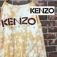 KENZO T SHIRT LONG SLEEVE MEN PARIS JAPAN BRAND SWEAT MEDIUM M RARE USED F/S