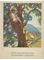 FOREIGN LANDS By ROBERT LOUIS STEVENSON Vtg ART PRINT A Childs Garden of Verses