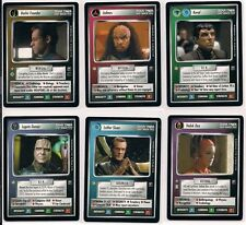 Star Trek CCG 1E 2nd Anthology 6 Card Set Damar Bashir Jodmos Koval Sloan Vedek