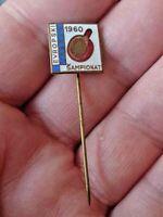 TABLE TENNIS  European Championship  1960 Zagreb, Yugoslavia - enamel pin badge
