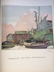 Vintage 1930s colour woodcut print Mamahlicoole by W F Phillips