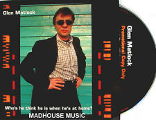 SEX PISTOLS CD Glenn Matlock PROMO Who Does He Think He's At Home ALBUM