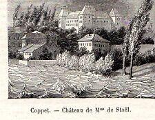 COPPET CHATEAU DE MME DE STAEL PETITE IMAGE 1880 SMALL PRINT
