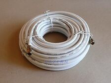 NEW 50 ft white RG6 coaxial coax cable with weatherproof connectors satellite tv