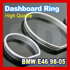 BMW E46 98-05  Silver cluster rings Silver gauge rings Silver dashboard rings