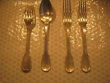 Christoffle 1 cuillère et 3  fourchettes  2 Poinçons rectangulaire et ovale