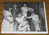 1957 Vintage Magazine Photo Actor Victor Borge and Family