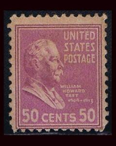 SCOTT #831 PRESIDENT WILLIAM HOWARD TAFT 50c (1938)