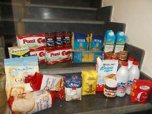 28 Pz spesa alimentare latte tonno pasta passata biscotti farina sughi zucchero