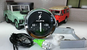 Smiths Dash Panel Auxiliary Ammeter Gauge & LED bulb Land Rover Series 1 2 2a 3