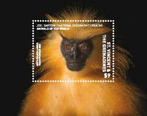 St. Vincent 2017 - National Geographic, Monkey, Animals - Souvenir Sheet - MNH