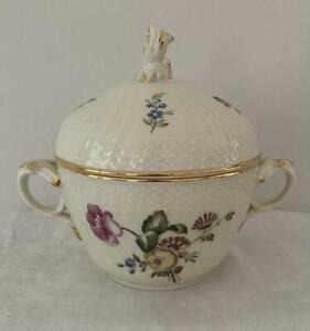 Vintage Royal Copenhagen Frijsenborg Lidded Sugar Bowl 910 1865 Excellent