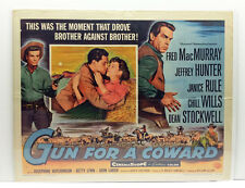"Original Vintage Movie Poster ""Gun For A Coward"" 1956 Universal Pictures Co."