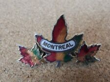 Vintage Monreal Canada Triple Maple Leaf Enamel Badge 3.5 cm
