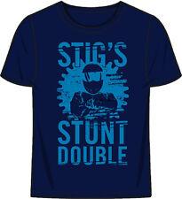 "UFFICIALE TOP GEAR ""Stig Stunt Doppio 'Da Uomo Blu T-Shirt (L)"