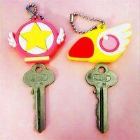 Card Captor Sakura the Clow KeyChain Figure Cosplay Magic Pendant Keyring 2pcs