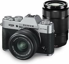 Fujifilm X-T30 26.1MP Digital Camera Double Zoom Lens Kit Silver *Free Shipping*