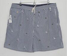 RALPH LAUREN POLO blue white striped swimming shorts trunks 4XL 4X 4XB XXXXL BIG