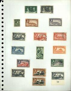Gibraltar KGVI Album Page Of Stamps #V18189