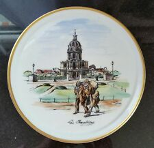 "LIMOGES ""Les Fvalides"" Hand Painted by LUCAS -  8 1/8 Porcelain Plate"