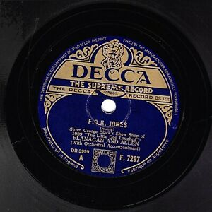 1939 FLANAGAN & ALLEN 78 FDR JONES / IF A GREY HAIRED LADY SAYS. DECCA F 7297 V+