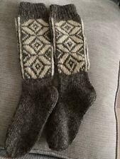 Wool long  hand knitted men's SOCKS