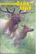 Pennsylvania Game News September 2013 cover by Tom Schatz ELK