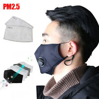 REUSEABLE MEN WOMEN FACE MOUTH COVER WITH ACTIVATED CARBON FILTER DUST PROOF