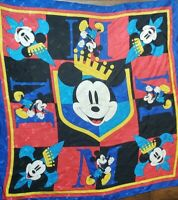 "Vintage Disney Mickey Mouse Scarf King Mickey 31"" x 31"""
