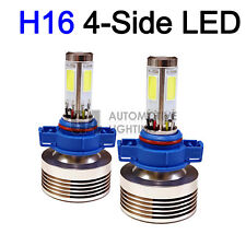2x 4-Side H16 5202 LED Fog Light Kit Bulbs 80W Super Bright 6000K Crystal White