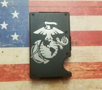 Laser Engraved United States Marines   RFID tactical wallet. USMC