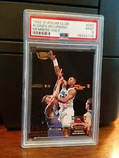1992-93 Stadium Club Members Only Alonzo Mourning Rookie Card #297 PSA 9 Mint