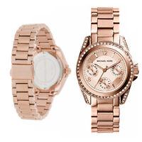 New Michael Kors MK5613 33mm Women's Blair Rose Gold Stainless Steel Watch