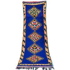 Vintage RUNNER rug Beni Ourain Moroccan Azilal bojaad handmade 9.3 FT X 3.3 FT