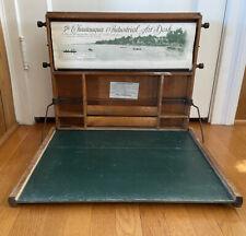 """1923 Lewis E. Meyers """"Chautauqua"""" Antique Portable Industrial Art Desk"""