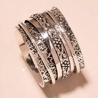925 Sterling Silver Band Spinner Ring Handmade Ring All size Spinner Ring