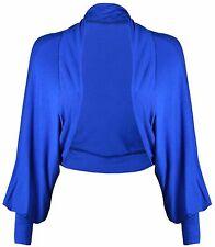 New Ladies Batwing Shrug Long Sleeve Womens Jersey Bolero Cardigan Top Size 8-32