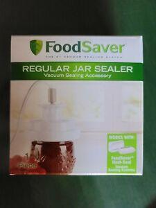 FoodSaver Regular Jar Sealer Vacuum Sealing Accessory * NEW * Regular Mouth Size
