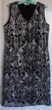 Ladies DRESS...V Neck…Black & Silver…Size 14...Great for any occasion...