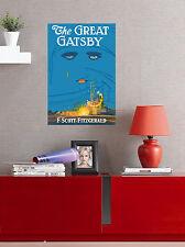 "The Great Gatsby - Classic Book Art - Fine Art Print 23""x15"""