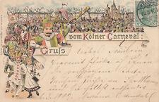 AK Köln Gruß vom Kölner Carneval Litho gel 1904
