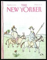 1991 Man & Woman on Horseback art by W. Steig April 15 New Yorker COVER ONLY
