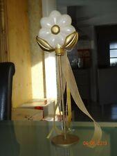 Thun Bozen Keramik Figur Blume auf einer Stange champagner