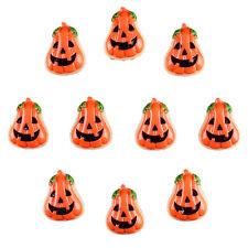10pcs Resin Halloween Pumpkin Flatback Hair Bow Center DIY Crafts Deco Prop