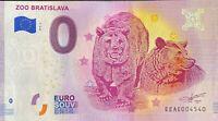 BILLET 0  EURO  ZOO BRATISLAVA SLOVAQUIE   2019  NUMERO DIVERS